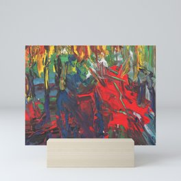 Bright multi-colored painting, contemporary art. acrylic paint, abstract texture Mini Art Print