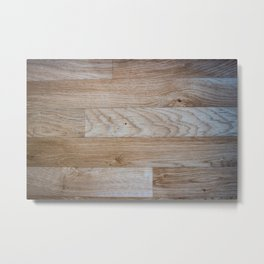 Light Wood Texture Metal Print