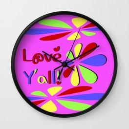 Love Y'all! Wall Clock