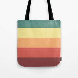 Retro Stripes Tote Bag