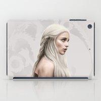 daenerys iPad Cases featuring Khalessi by Jason Cumbers
