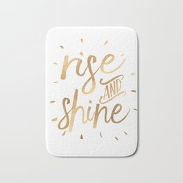 RISE AND SHINE Sign, Bedroom Decor,Home Decor,Living Room Decor,Motivational Quote,Rise And Grind,Qu Bath Mat