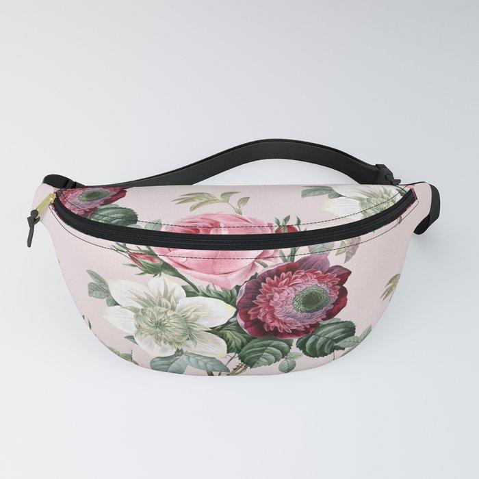 Retro Rose Garden pattern Fanny Pack