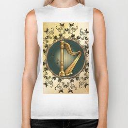 Golden harp Biker Tank