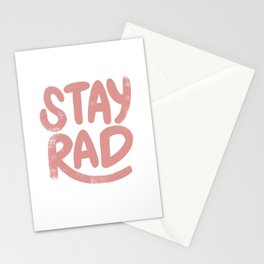 Stay Rad Vintage Pink Stationery Cards