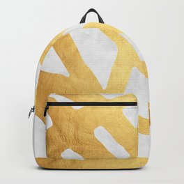 Modern pattern with gold I Backpack