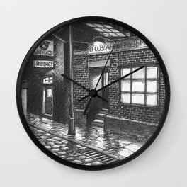 Warehouse music after work Wall Clock
