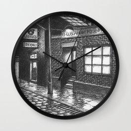 Warehouse music after work Wall Clock
