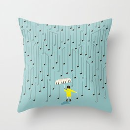 Singing in the Rain v2 Throw Pillow