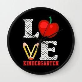Kindergarten Love Pencil School Teacher Kids Wall Clock