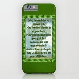 Green Irish Blessing iPhone Case