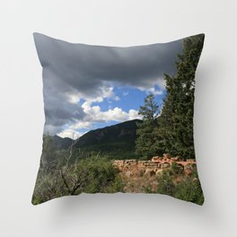 Lost in Rocky Mountain Throw Pillow