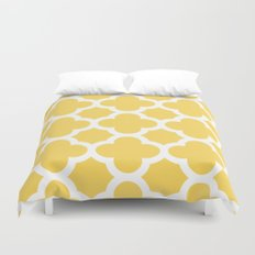 Yellow Quatrefoil Duvet Cover