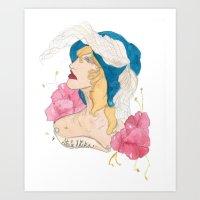 stevie nicks Art Prints featuring Portrait: Stevie Nicks by WildHeartArt
