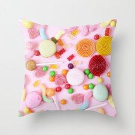 Pink Candy Throw Pillow