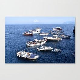 Blue Grotto at Sea Canvas Print