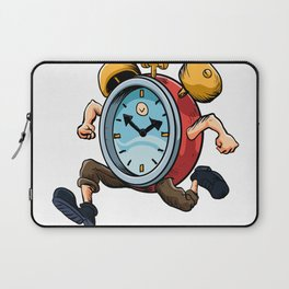 Clock Man Running Laptop Sleeve