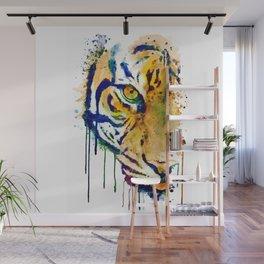 Half Faced Tiger Wall Mural