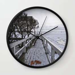 Frozen Finland Wall Clock
