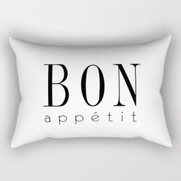 Bon Appetit – Quote Rectangular Pillow
