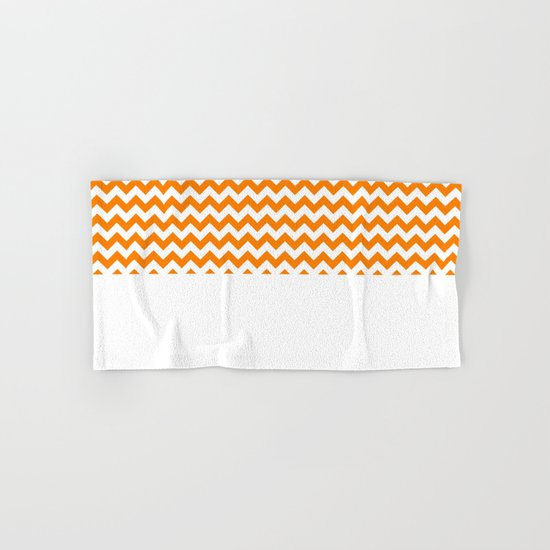 Chevron (Orange/White) Hand & Bath Towel