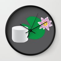 himym Wall Clocks featuring HIMYM Couples - Lily & Marshall by Raye Allison Creations
