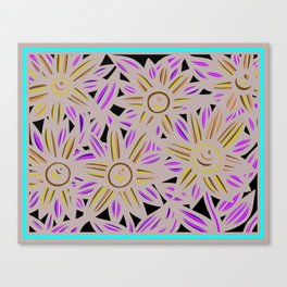 Art Print, Wall Art, Home Decor, Print Botanical, Drawing Flowers, Line Drawing Flower, Botanical Pr Canvas Print