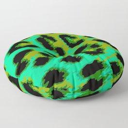 Aqua and Apple Green Leopard Spots Floor Pillow