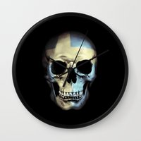 Swedish Skull Wall Clock