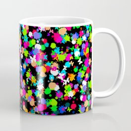 Multicoloured Ink Splodges With Tiny Butterflies Coffee Mug