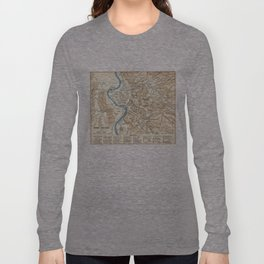 Vintage Map of Rome Italy (1870) Long Sleeve T-shirt