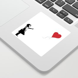 Banksy Girl with Heart Balloon Sticker