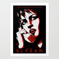 SCREAM - RED (Alternative Movie Poster) Art Print