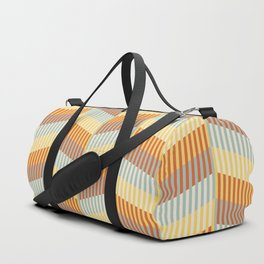 Striped colored chevron Duffle Bag