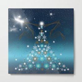 Bright Christmas Tree Metal Print