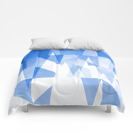 Abstract Blue Geometric Mountains Design Comforters
