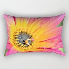 Beautiful Pink Imperfection Flower  by Reay of Light Photography Rectangular Pillow