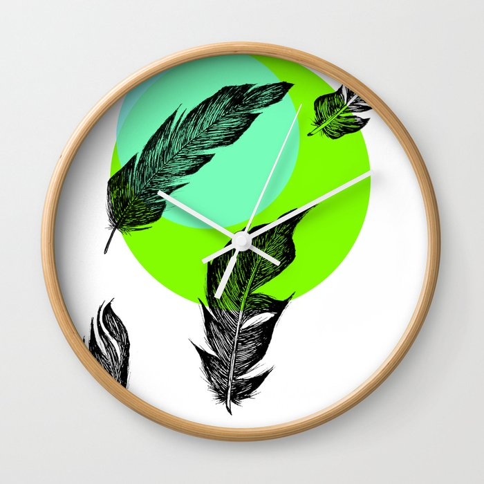 Feathers Wall Clock