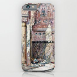 Basking, A Corner In The Alhambra - Tom Roberts iPhone Case