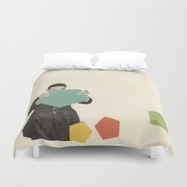 Discovering New Shapes Duvet Cover