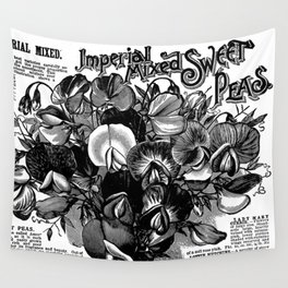 Imperial Mixed Sweet Peas Wall Tapestry