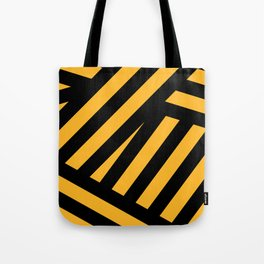 Black and yellow abstract striped Tote Bag