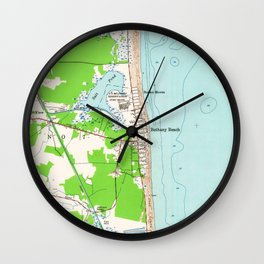Vintage Map of Bethany Beach Delaware (1954) Wall Clock