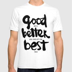 GOOD BETTER BEST White SMALL Mens Fitted Tee