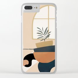 Plant in a Pot Clear iPhone Case