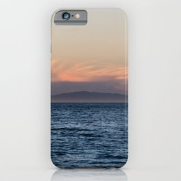 Channel Island vista on a very clear winter day at sunset iPhone Case