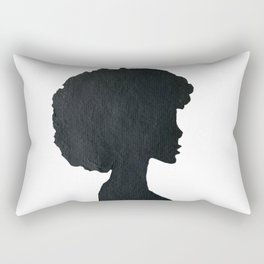 Afro in Silhouette Rectangular Pillow