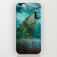 hobbes iPhone & iPod Skins featuring I'll See You In My Dreams (Cry of the Wolf) by soaring anchor designs