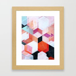 White Paint and Some Colors Framed Art Print