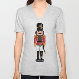 Christmas nutcracker soldier Unisex V-Neck